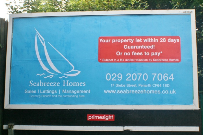Not sure if this is big enough our new bilboard in Penarth