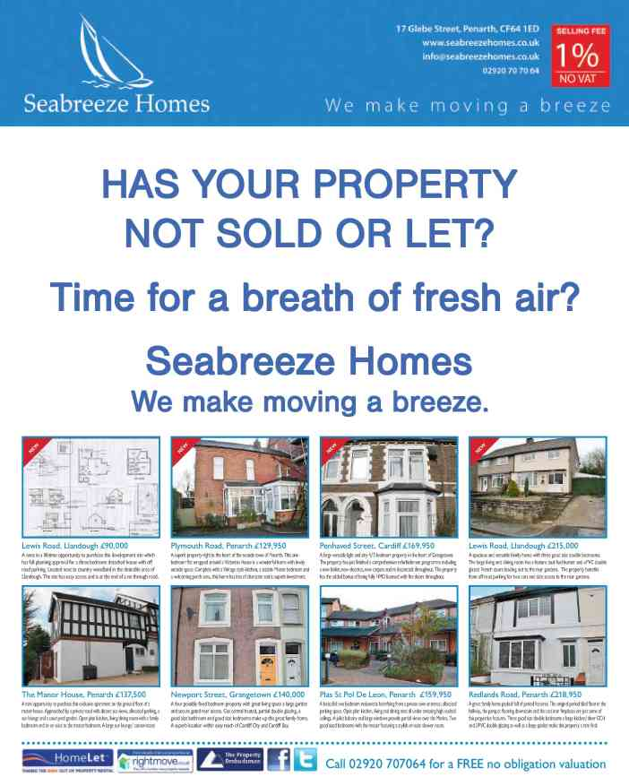 Thank you Penarth Times for such a great advert in this week's paper.