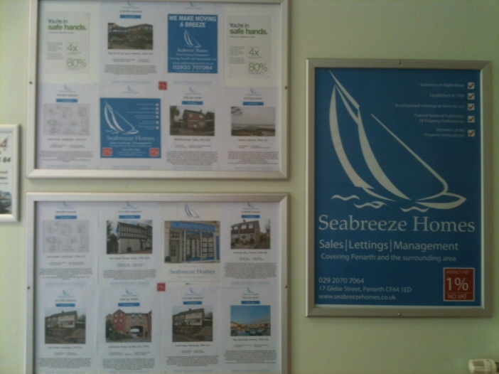 More new properties advertise exclusively at LLandough Hospital by Seabreeze Homes