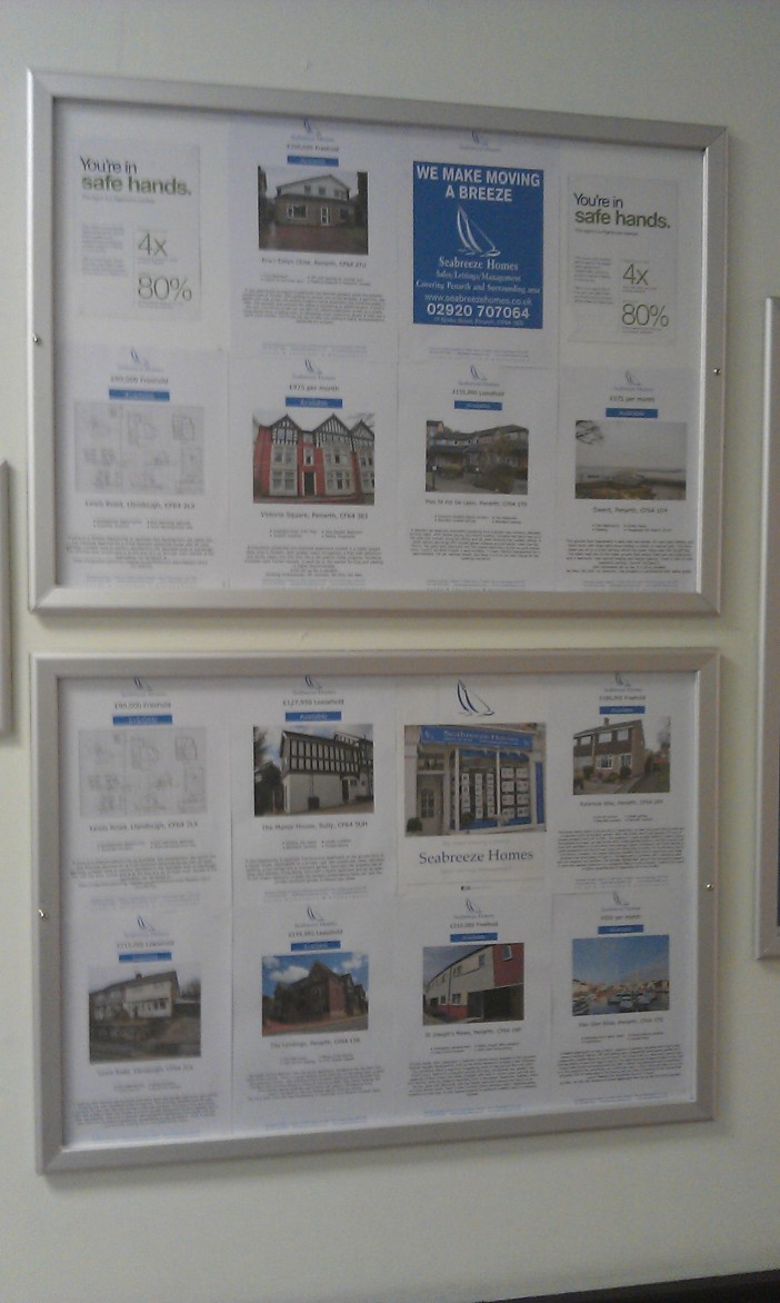 Hot properties advertised exclusively at Llandough Hospital by Seabreeze Homes