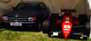 Ayrton Senna's Mercedes (left) will be on display in Upper Glebe St